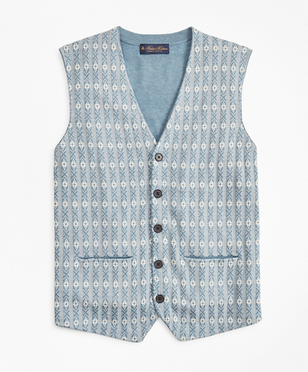 Supima® Cotton Jacquard Waist Coat