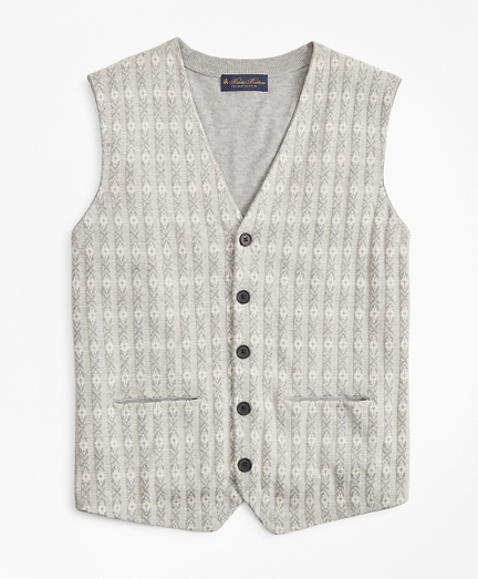 Supima® Cotton Jacquard Waist Coat