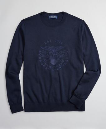 Lincoln Seal Supima® Crewneck Sweater