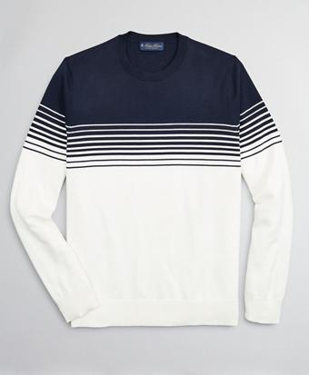 Nautical Stripe Supima® Crewneck Sweater