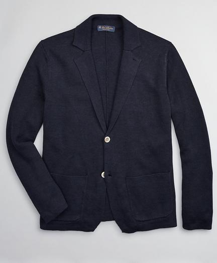 Linen and Cotton Sweater Blazer