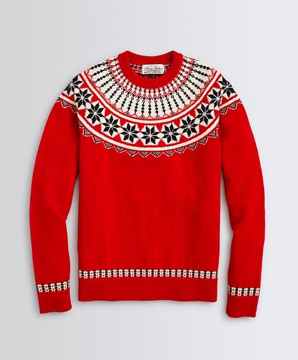Fair Isle Merino Wool Crewneck Sweater