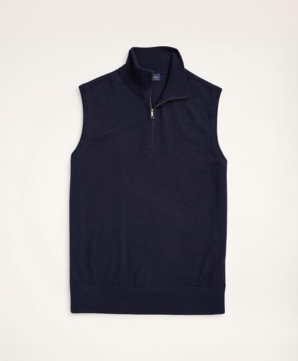 Italian Merino Half-Zip Sweater Vest