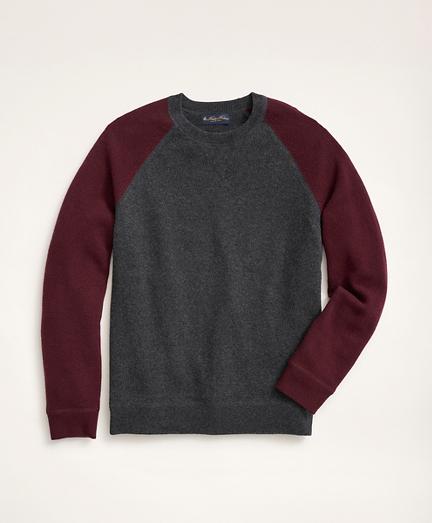 Wool Cashmere Color-Block Crewneck Sweater