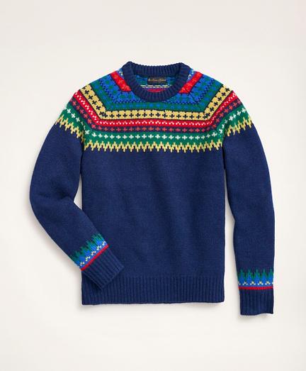 Fair Isle Lambswool Crewneck Sweater