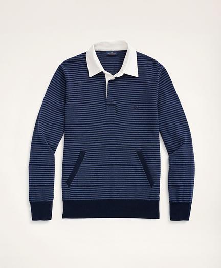 Merino Stripe Polo Sweater