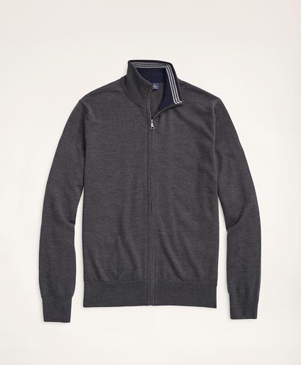 Italian Merino Full-Zip Sweater