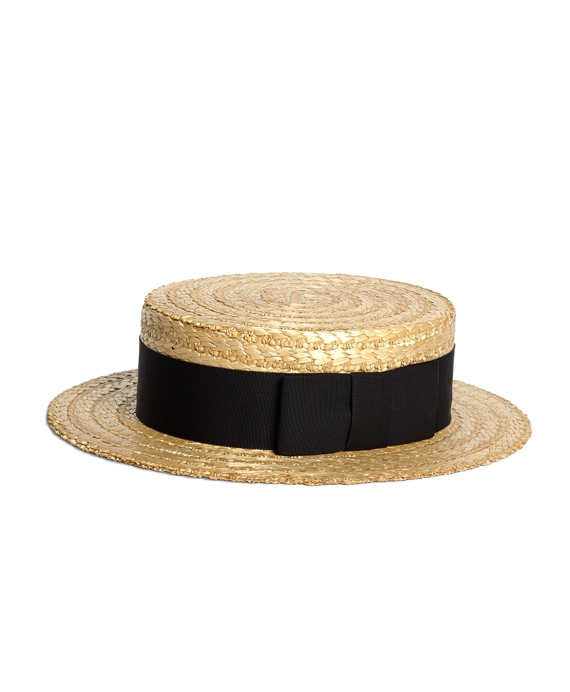 daee1d10d2f1b Child s Straw Boater Hat With Ribbon Green Straw Ribbon Boater Hat  Men s  Lock And Co. Straw Boater Hat With Black