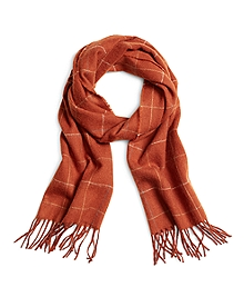 Multi Windowpane Scarf