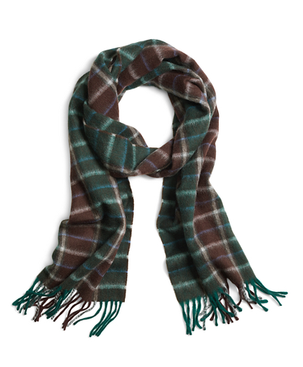 Two-Color Plaid Scarf