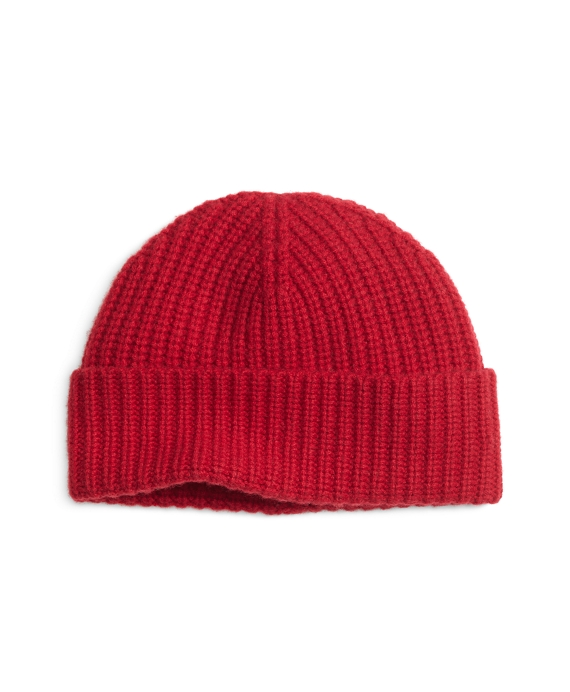 Ribbed Cashmere Hat Red