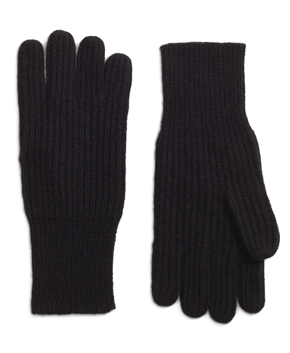 Ribbed Cashmere Gloves Black