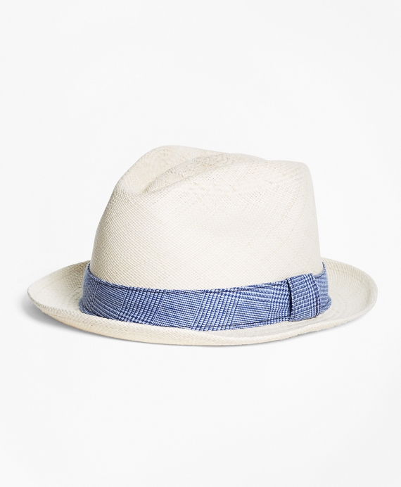 Straw Block Hat Natural-Blue