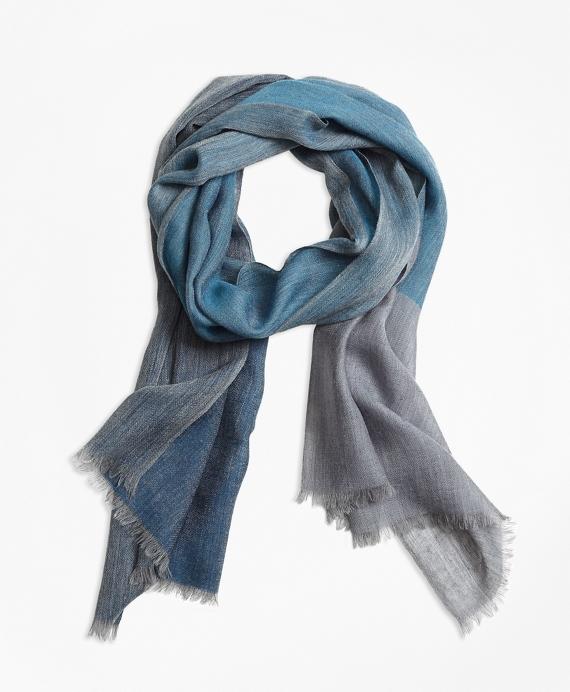 Marled Wool Scarf Blue