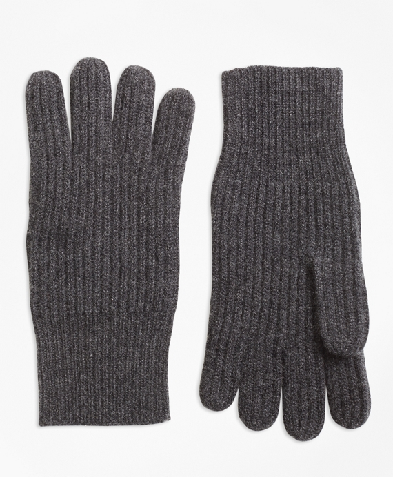 Ribbed Cashmere Gloves Charcoal
