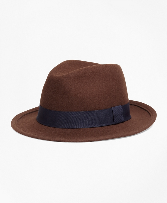 Wool Blocked hat Brown