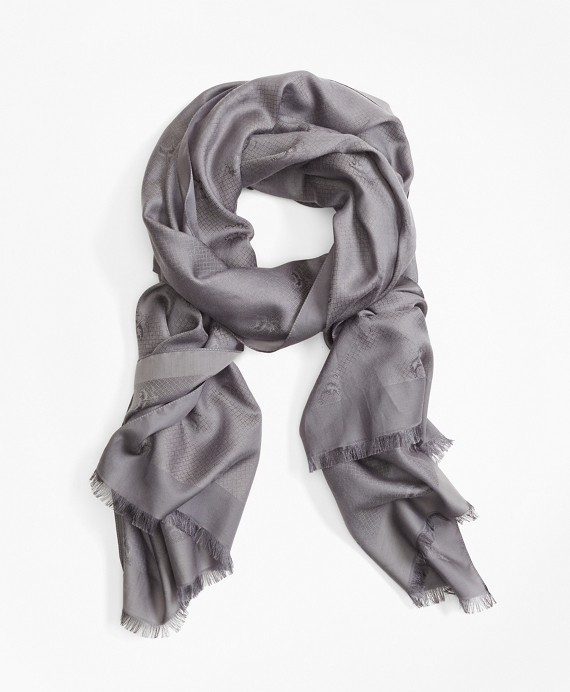 Golden Fleece® Jacquard Scarf by Brooks Brothers