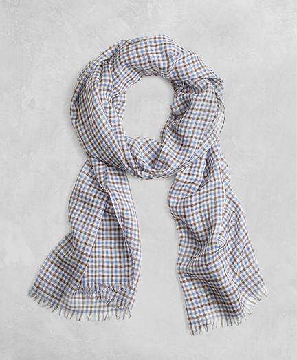 Golden Fleece® Cashmere Silk Gingham Scarf