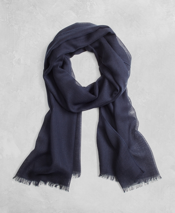 Golden Fleece® Cashmere Silk Scarf Navy