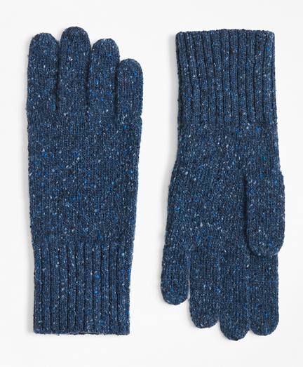 Merino Wool Donegal Knit Gloves