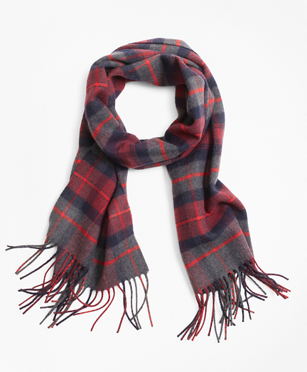 Navy and Grey Tartan Scarf