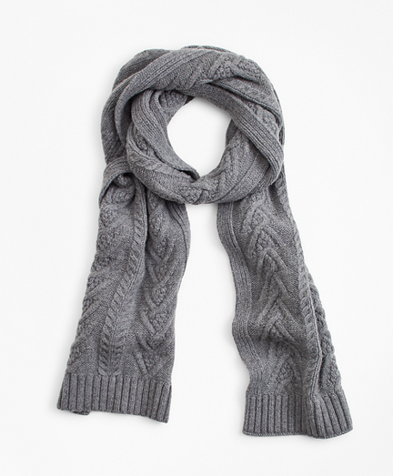 Merino Wool Fisherman Cable Scarf