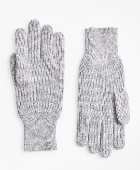 Ribbed Cashmere Gloves Grey
