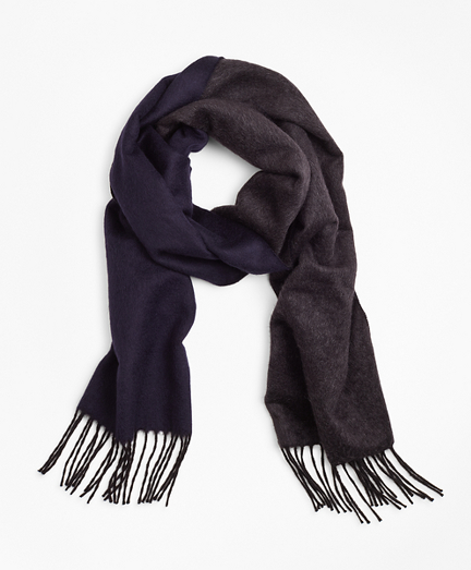 Double-Face Silk and Cashmere Scarf