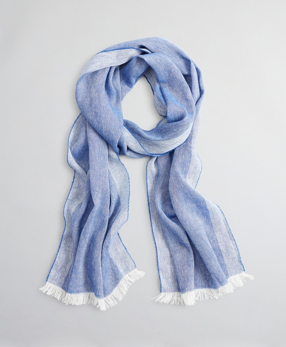 Cashmere and Linen Scarf Blue