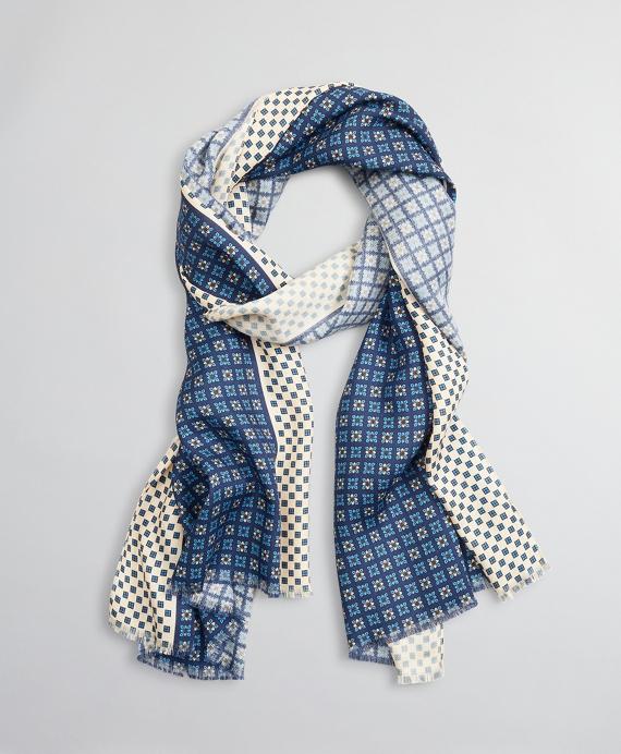 Golden Fleece® Wool-Silk Scarf Navy