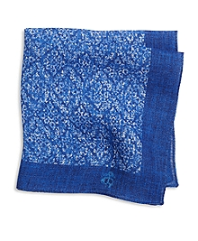 Linen Batik Print Pocket Square