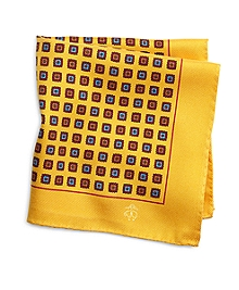 Brushed Medallion Pocket Square