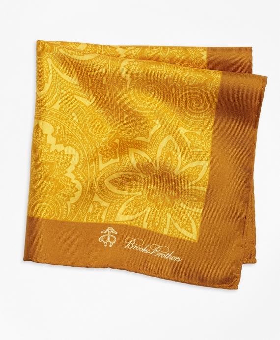 Paisley Pocket Square Gold