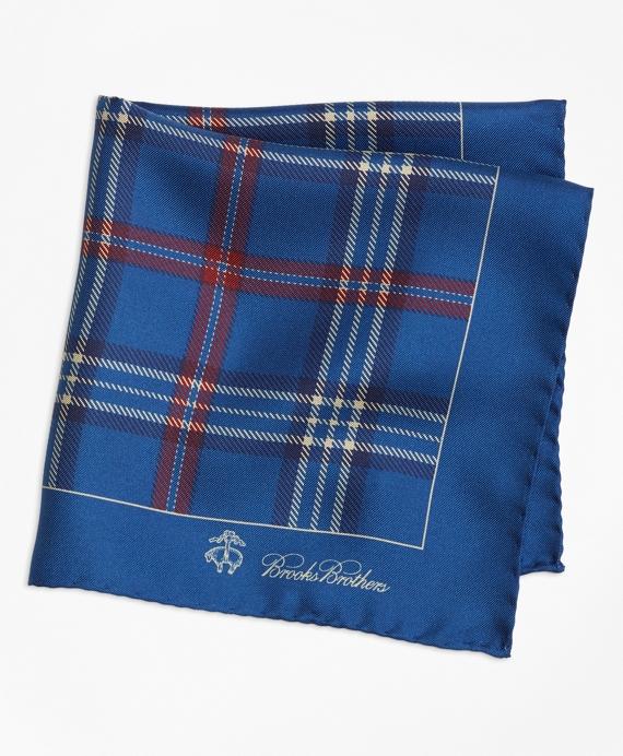Signature Tartan Pocket Square Blue