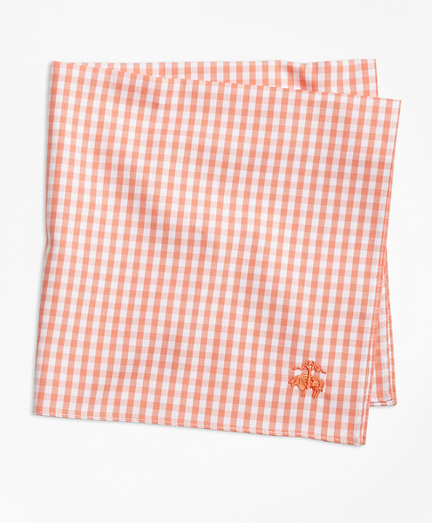 Supima® Cotton Gingham Pocket Square