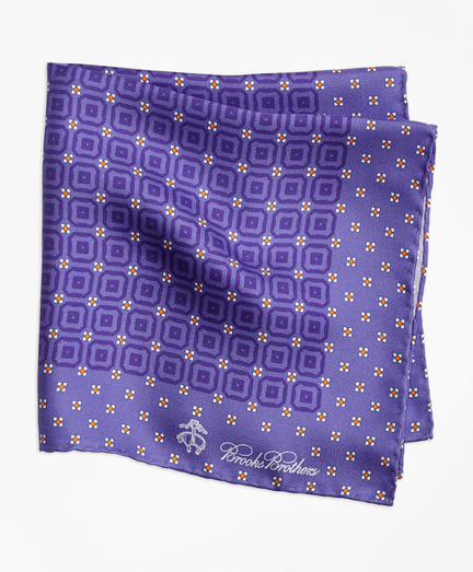 Tonal Medallion Pocket Square