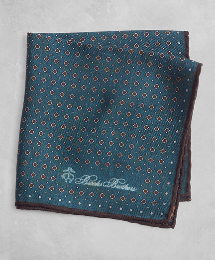Golden Fleece® Dot and Paisley Pocket Square