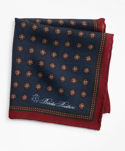 Golden Fleece® Square Flower Pocket Square