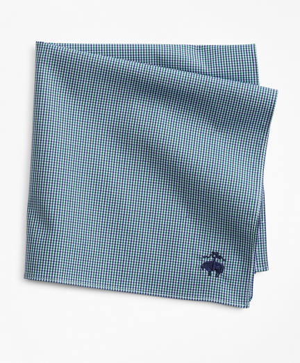 Two-Tone Gingham Pocket Square