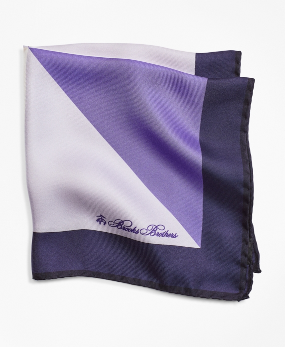 Color-Block Pocket Square Light Purple