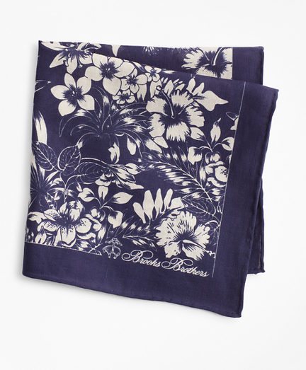 Large Floral Pocket Square