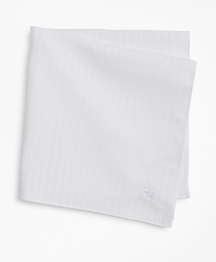 Textured Stripe Linen Pocket Square