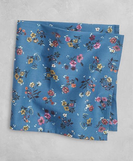 Golden Fleece® Daisy-Print Cotton Pocket Square