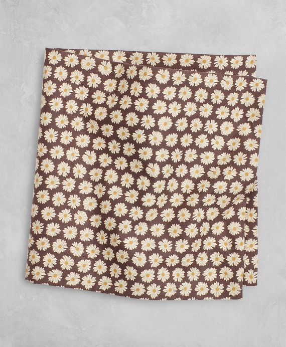 Golden Fleece® Linen Pocket Square Brown