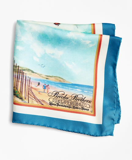 Limited Edition Archival Collection Spring 1981 Silk Pocket Square