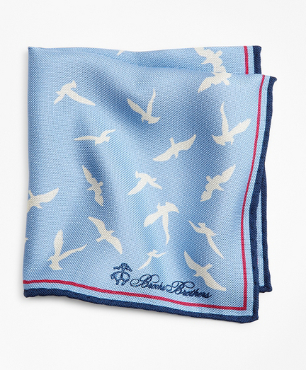 Seagull and Dot Pocket Square