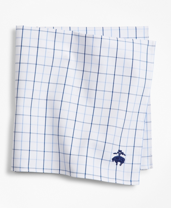 Windowpane Pocket Square Vista Blue