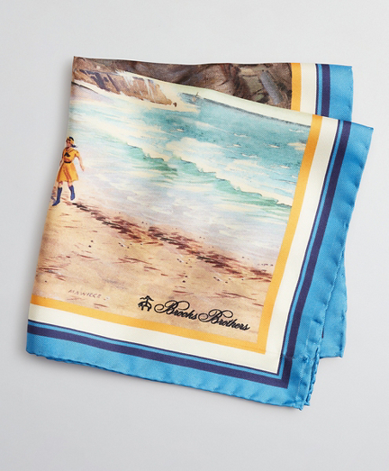 Limited Edition Archival Collection Spring 1984 Silk Pocket Square