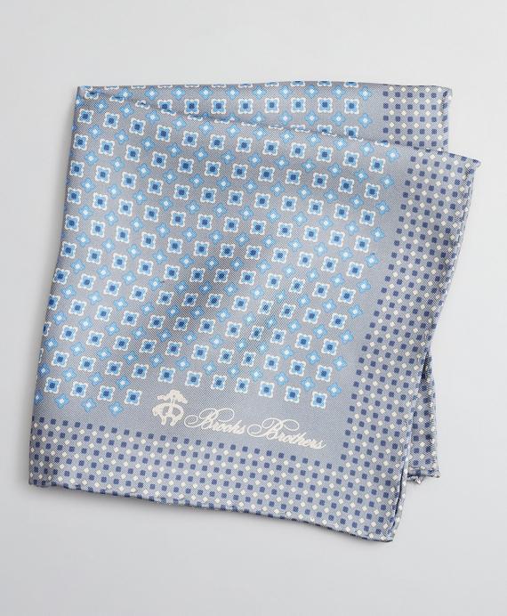 Foulard Pocket Square Grey