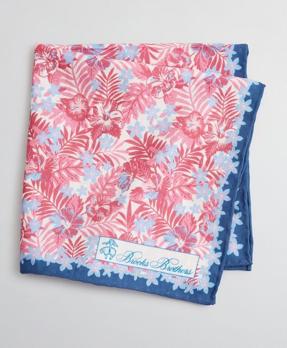 Tropical Print Pocket Square Pink